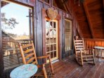 Second Level Balcony with wooded and mountain views!  Relax and unwind while taking in the Smokies!