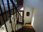 superbe escalier et rampe en fer forgé