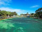 This second tennis court is a few steps from the gulf.  A good place to cool off at after a game.