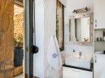 En-suite bathroom comes with natural bath amenities