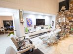 Balinese furniture mixed with luxury brands