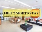 FREE 2 NIGHTS min 15 nights stay