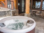 As well as a hot tub for relaxing