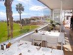 The restaurant also has fantastic views