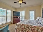 2nd Floor Master King Suite with HD Flat-Screen TV