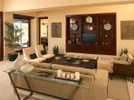 Living room, entry to TV Den