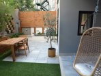 Patio hanging chair - olive tree