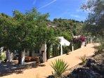 Deze bungalow ligt het dichtst bij het zwembad