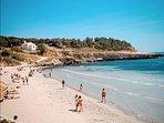 La plage de Sainte Croix sur la Cote Bleue