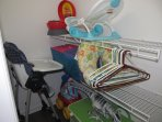 High Chair, pack and play, potty, bath seat, and toys.