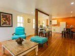 This home features a very spacious, loft style living area on the first floor.
