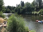 Truckee River across the street