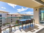 Step outside onto the 145 sq ft balcony