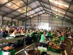 Marché de fruits et légumes du pays