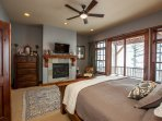 Master bedroom with incredible views and access to the deck.