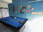 Garage Game Room w/Convertible Billiards / Hockey Table