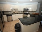 Stainless appliances in the remodeled kitchen