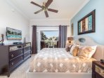 Large master bedroom with king
