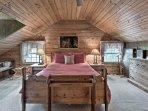 The third bedroom has a queen bed.