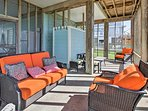 Put your feet up and have an afternoon siesta on the comfy outdoor sofas.