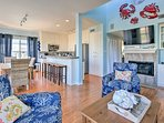 This bright and breezy oceanside manor is the perfect home base for all of your sandy adventures.