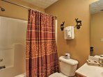 It will be easy to stick to your morning routine in the other 2 bathrooms that offer a shower/tub combo.
