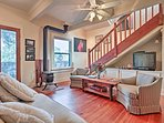 A family of 6 can relax in the 1,400 square feet of living space.