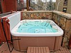 Your private Hot Tub even has jets to massage your feet