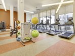 Fitness Center at the Rivera on Broadway by Stay Alfred