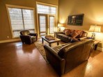 Hang out with friends and family in the spacious living area