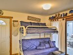 Three additional guests can sleep on the twin-over-full futon bunk bed.