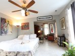 Master bedroom with great King bed and sitting room for your relaxation