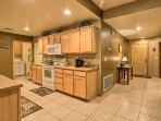 The home's fully equipped kitchen has everything you need to cook your favorite recipes.