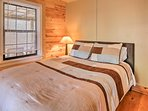 The second bedroom offers a queen bed.