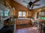 Another view of the kitchen at Ashemount in Sugar Grove, NC.