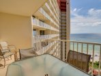 Shores of Panama 1421-Private balcony with seating