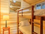 The third bedroom is great for kids, as it has a twin-over-twin bunk bed!