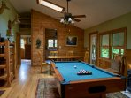 The pooltable will provide indoor entertainment at Ashemount in Sugar Grove, NC. #pooltable