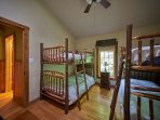 The kids will love this cool bunk room at Ashemount in Sugar Grove, near Banner Elk, NC.