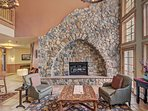 Expedition Station - Cozy stone-fireplace.