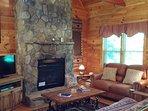 Baird's Creek in Banner Elk, NC. #fireplace