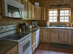 The large kitchen makes cooking a pleasure at Ashemount in Sugar Grove, NC.
