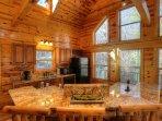 Gold Granite Kitchen Bar
