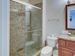 2nd en-suite bath with granite vanity and walk-in shower. All bathrooms include fresh towels
