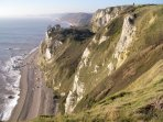 Beach & Cliffs at Branscombe approximately 8 miles from the property