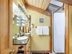 The natural light in the loft bathroom will brighten your day