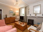 Original wooden floors and a roomy welcoming feel in the lounge
