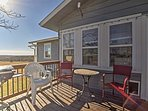 This home offers great outdoor amenities, including a grill and fire pit, along with spectacular views of the Flint...