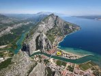a view of Omis and the river Cetina canyon