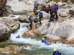 canyoning on river Cetina
